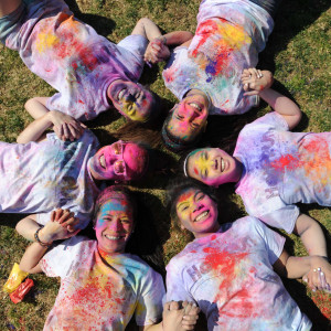 More than 350 students and community members participated in Holi Run.
